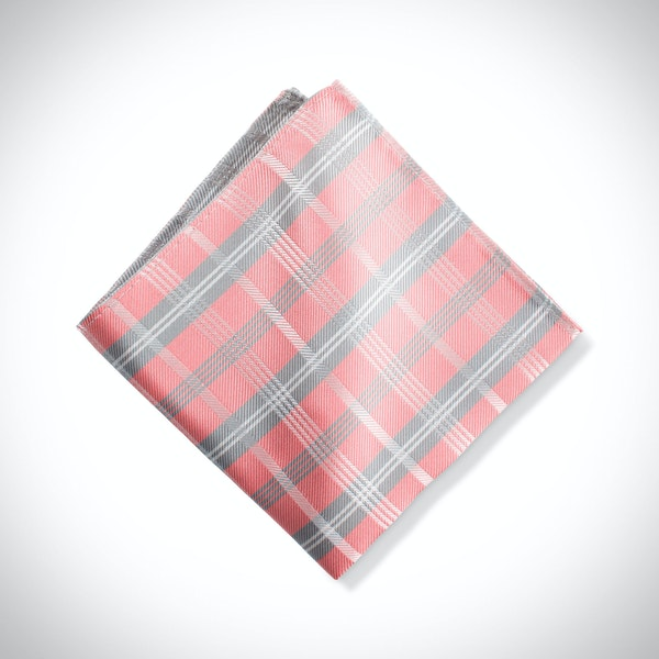 Coral Reef Plaid Pocket Square