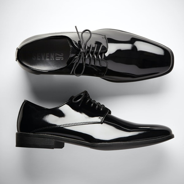 Black Gloss Tuxedo Shoes