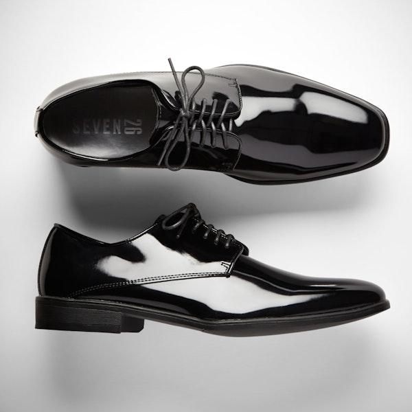 Black Gloss Tuxedo Shoes