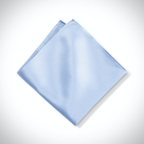 Ice Blue Pocket Square