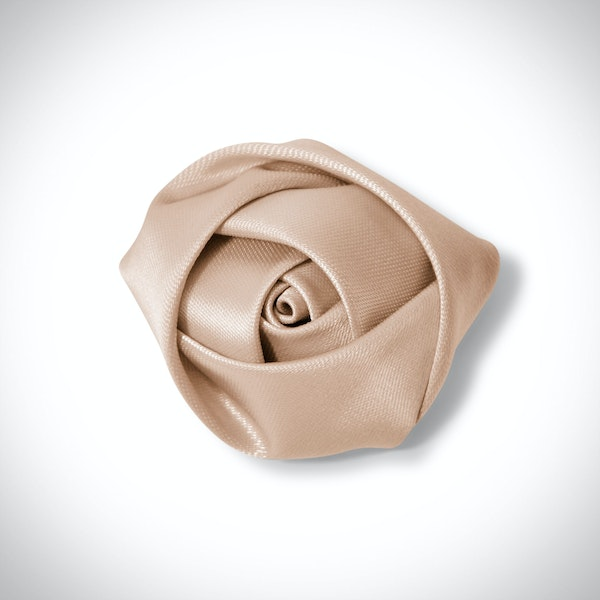Champagne Rose Lapel Pin