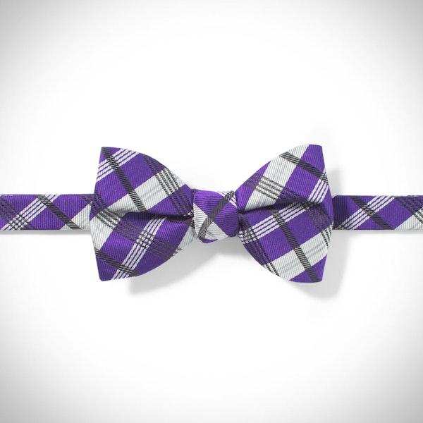 Viola Plaid Pre-Tied Bow Tie