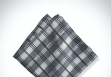 Pewter Plaid Pocket Square