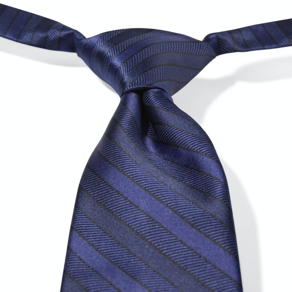 Dark Navy Striped Pre-Tied Tie