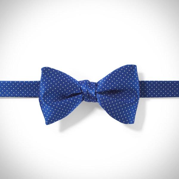 Horizon and White Pin Dot Bow Tie