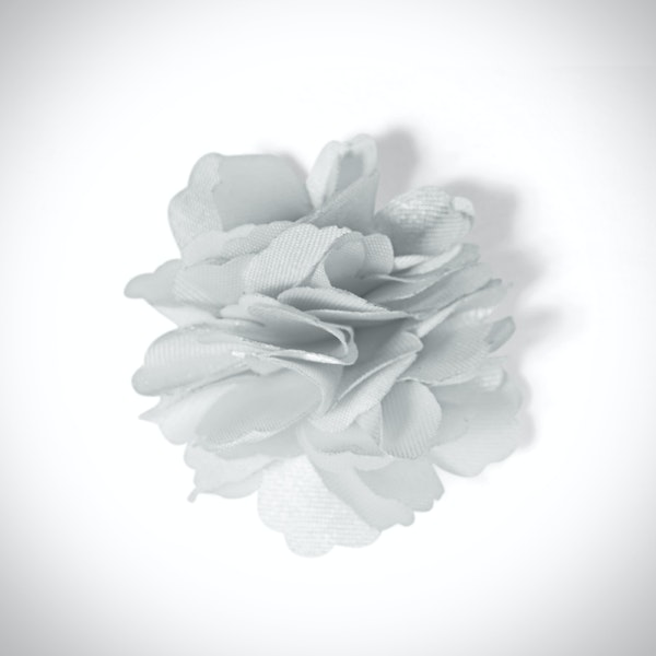 Platinum Carnation Lapel Pin