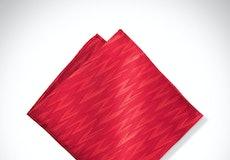 Ruby Valentino Zag Pocket Square