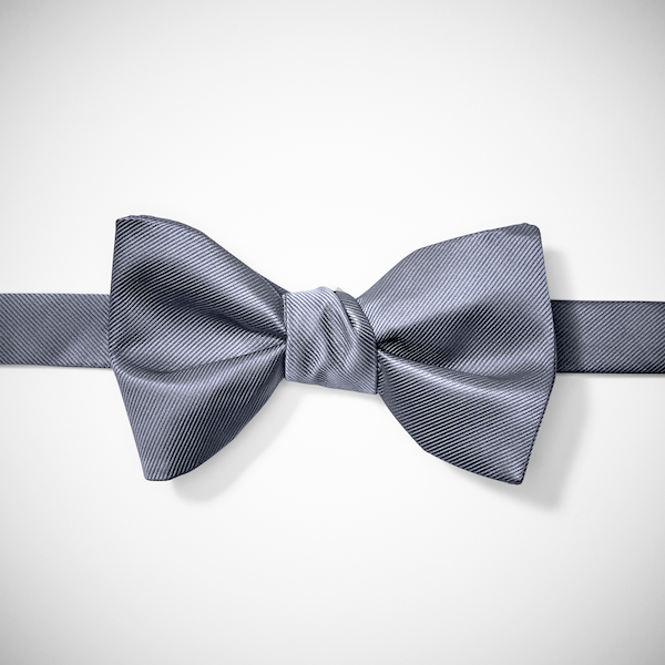 Pewter Pre-Tied Bow Tie