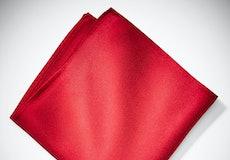 Ruby Valentino Pocket Square
