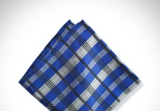 Horizon Plaid Pocket Square